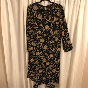 Who What Wear patterned high low dress